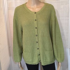 Christopher & Banks Sage Green Cardigan EUC Sz. XL