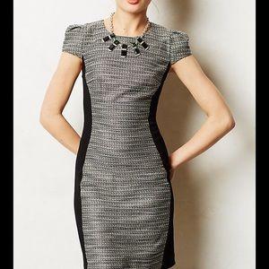 Moulinette Anthropologie shimmer tweed dress 0 S