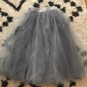 Alexandra Grecco Dusty Blue Tulle Skirt - Size 4