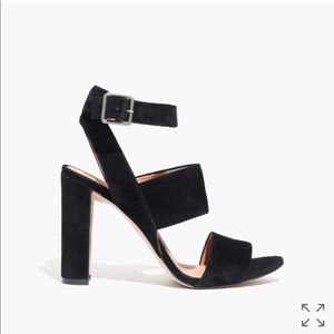 Perfect Madewell black suede platforms