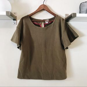 Olive Green Anthropologie Top