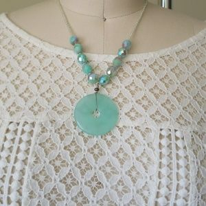 Sea foam green necklace