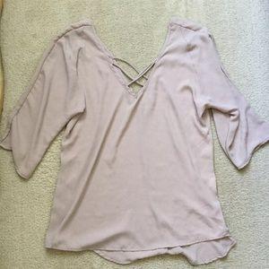 Brandy Melville criss cross blouse