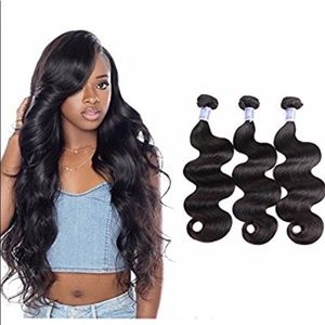 Brazilian Body Wave Human Hair Bundles 3 pack