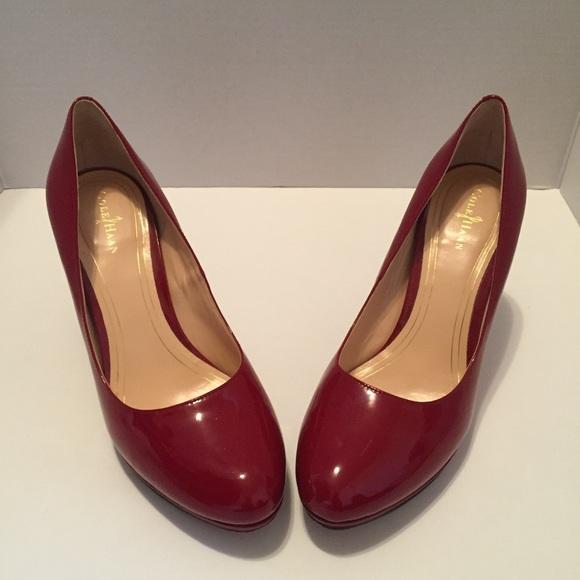 2e4012c2e5b2 Cole Haan Shoes - Cole Haan Women Pump Heels Sz 9 Red Patent Leather