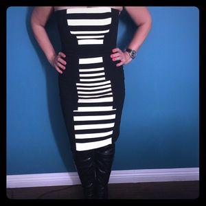 Black and white Dress by BCBG