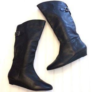 Steve Madden black leather Incca boots