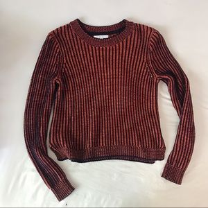 CAbi Knit Orange and Black Sweater