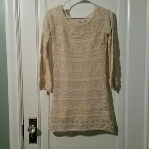 Old Navy crocheted dress with built in slip