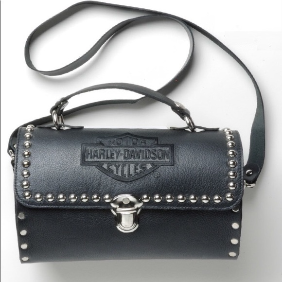 cd887339094b Cute black studded Harley-Davidson handbag