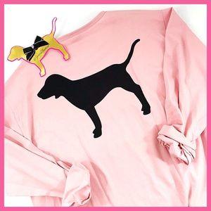 •Victoria's Secret PINK• Dog Logo long sleeve