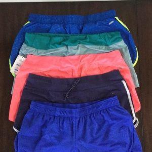 5 pairs Danskin Now shorts - size L/G 12-14