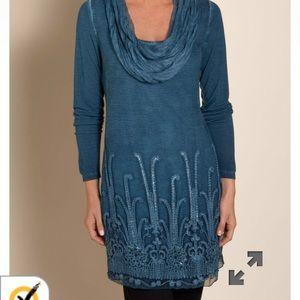 Soft Surroundings Silk Tunic NWOT