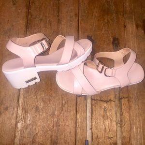 Pink Nursace leather sandals Sz 37