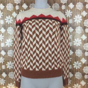 madewell chevron ski sweater