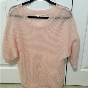 NY & Co pink s/s sweater