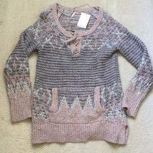 Free People Oversized Cableknit sweater