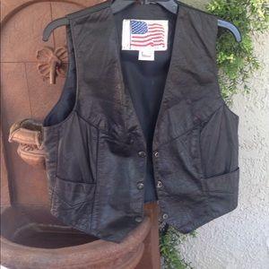 Women's Classic Soft Leather Vest