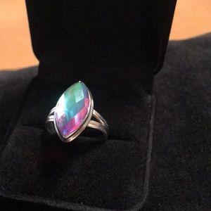 Sterling silver semi precious color change ring