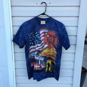 Vintage Firefighter T Shirt