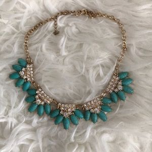 Gold & Turquoise Statement Necklace
