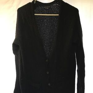 American Eagle Button Front black cardigan M