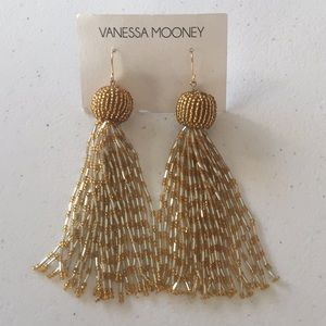 NWT Vanessa Mooney Drop Tassel Earrings