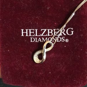 Helzberg infinity diamond necklace