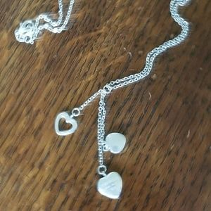 Triple Heart Dangle Tiffany and Co Necklace.