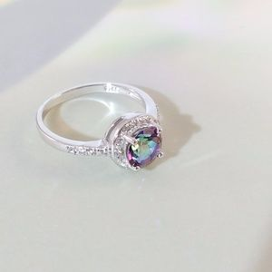JUST IN🌹Mystic Gemstone & Created Sapphire Ring