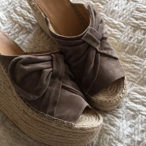 ca64716dcce Marc Fisher LTD Aida Suede Bow Espadrille Wedge NWT