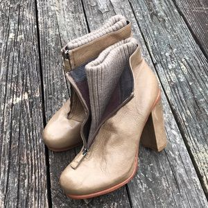 DOLVE VITA - 10 - LEATHER/SWEATER BOOTIES TAN