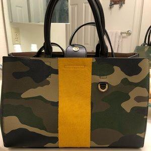Camo print handbag