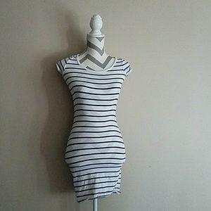 Charlotte Russe Striped Peekaboo dress