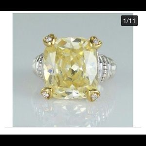 Judith Ripka Ring with Canary Stone