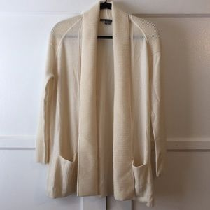 VINCE Cashmere and Wool Long Open Sweater