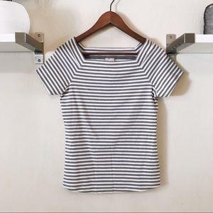 Anthropologie Postmark Striped Ribbed Shirt