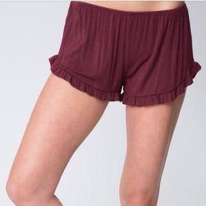 Maroon Brandy Melville Shorts
