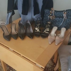 4 pair bundle of career and casual shoes