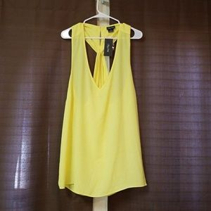 Pretty yellow City Chic Tank with cute back detail