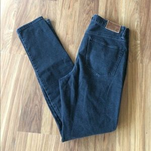 Black Madewell High Rise Skinny Jeans