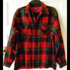 Made in USA Pendleton Plaid Shirt