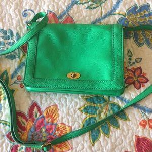 J Crew Green Handbag