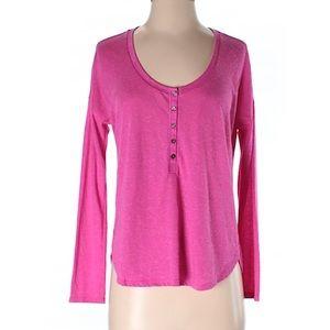 Victoria's Secret long sleeve pink Henley