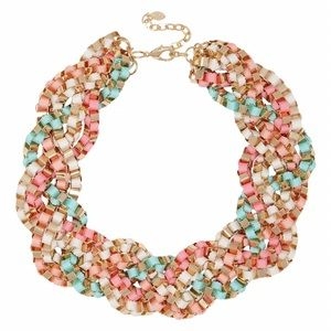 ALDO Colorful Braided Statement Necklace
