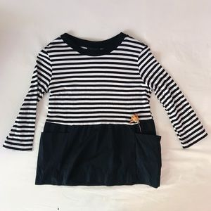 Zara Striped Color Blocked Top (with pockets!)