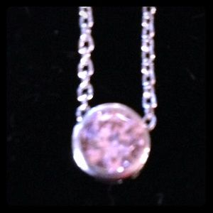 Jewelry - Sterling Silver Pink CZ Necklace