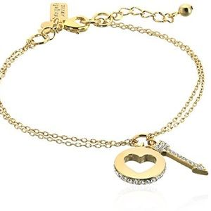 Kate Spade Heart and Arrow Gold Bracelet
