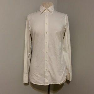 J.Crew Haberdashery White Button Up Shirt Sz Small