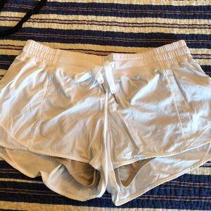 White lulu lemon shorts